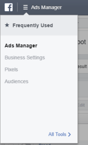 Find Facebook Pixel in Ads Manager