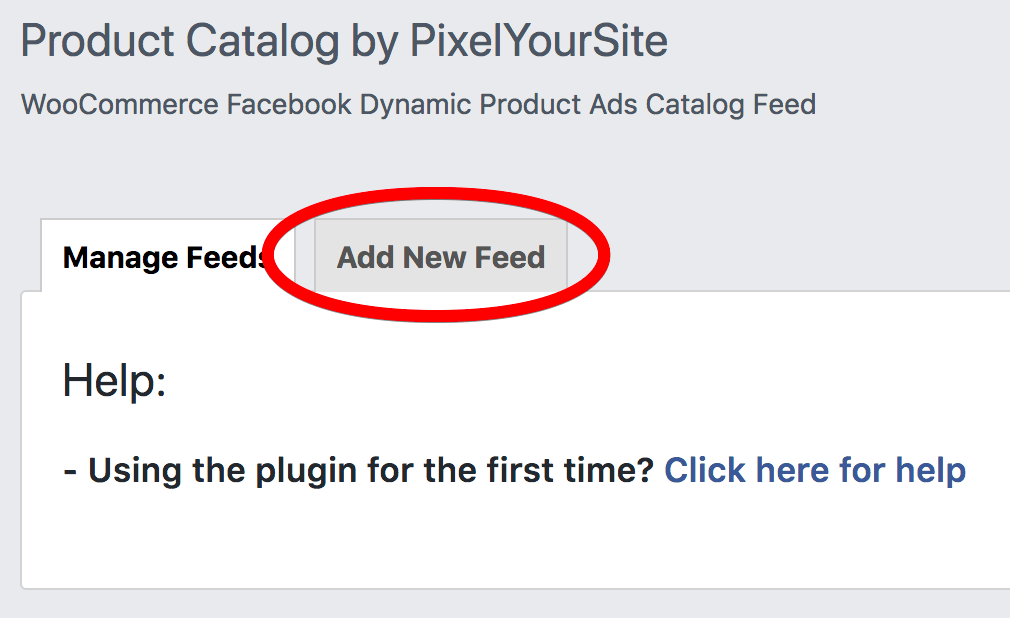 Add Dynamic Product Feed WooCommerce