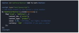 Facebook AddToCart Event Parameters