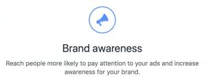 Facebook Ads Brand Awareness Objective