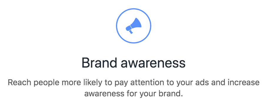 Facebook Ads Brand Awareness Objective