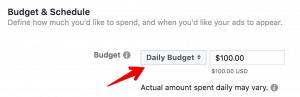Facebook Ads Budget
