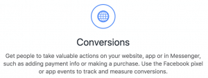 Facebook Ads Conversions Objective