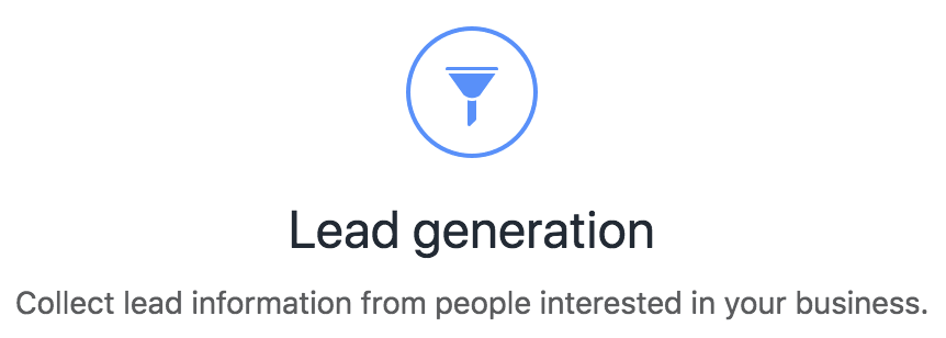 Facebook Ads Lead Generation Objective
