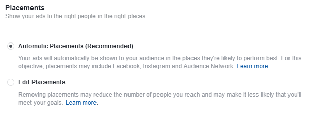 Facebook Dynamic Remarketing Ads Placements