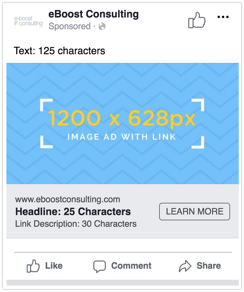 Facebook Image Link Ad Dimensions