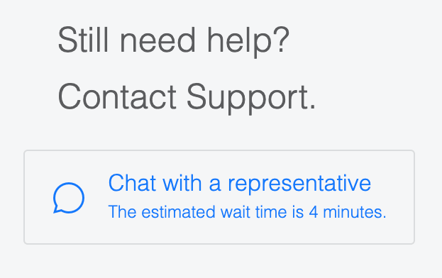 Facebook Live Chat Wait Times
