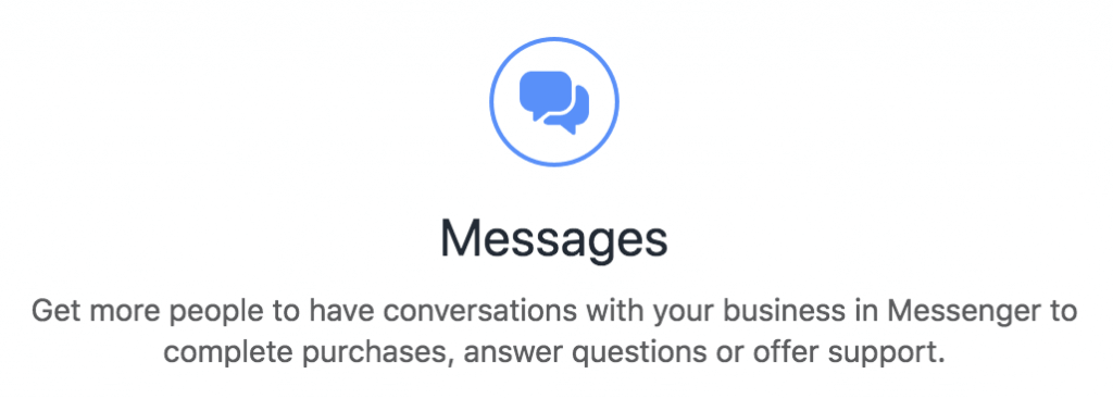 Facebook Messenger Ads Messages Objective