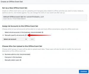 Facebook Offline Conversions Setup