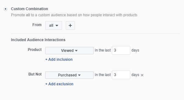Facebook Product Page View Dynamic Remarketing