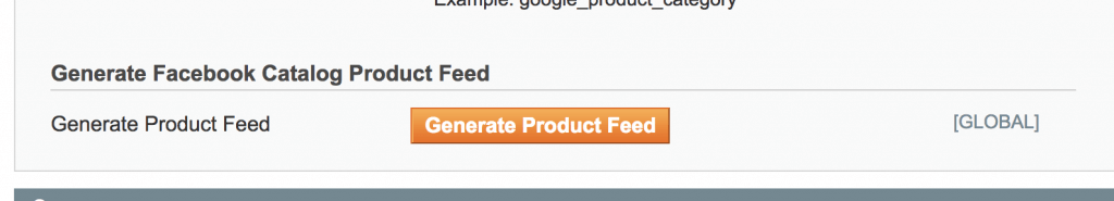 Generate Product Feed for Facebook in Magento