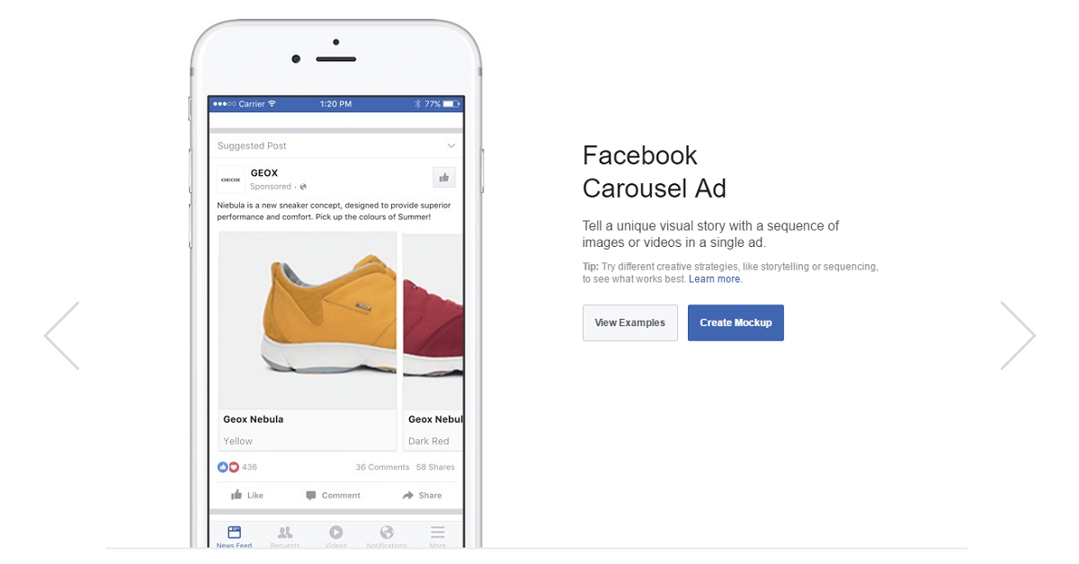 facebook launches creative hub for ad mockups