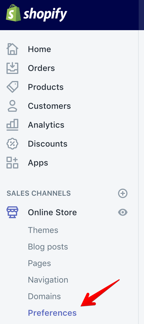 shopify facebook pixel setting